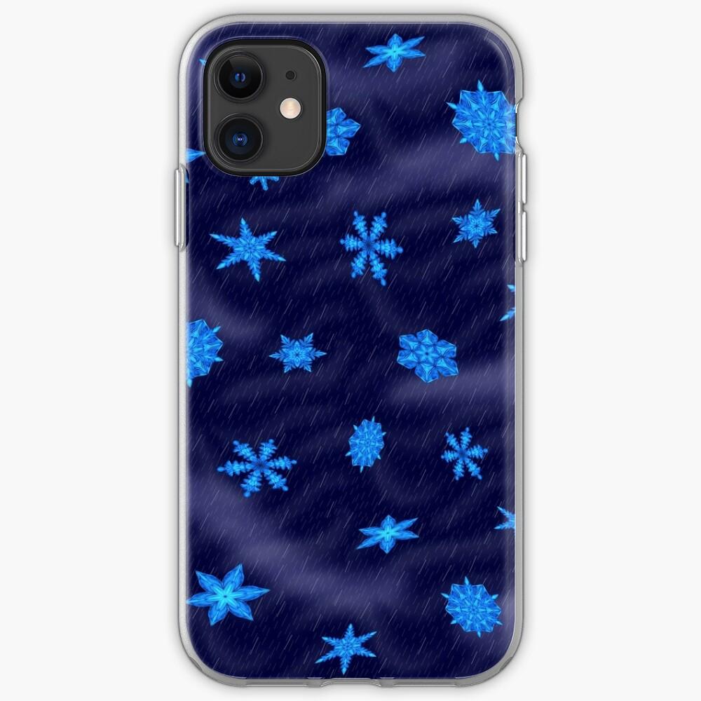 Drifting Snowflake, Gentle Rain iPhone Case & Cover