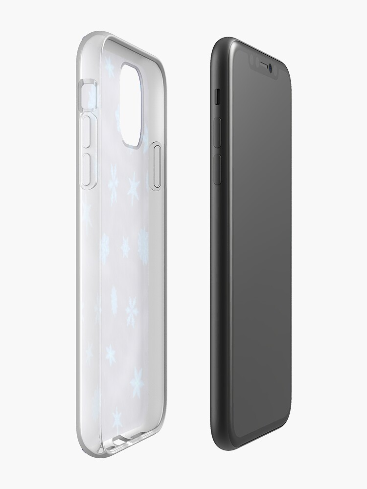 Alternate view of Drifting Snowflake, Gentle Rain iPhone Case & Cover