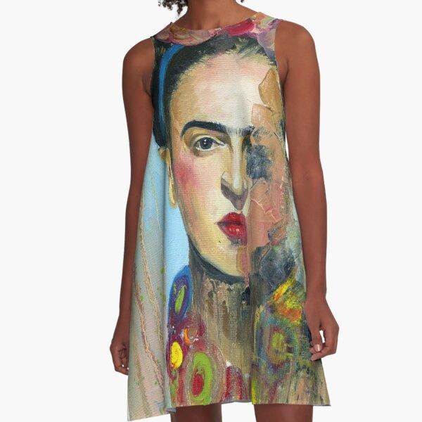 Frida Kahlo Art A-Line Dress