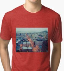 Powell Street at 6am Tri-blend T-Shirt