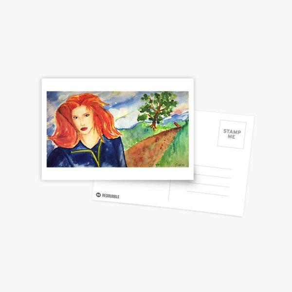 Redhead Model Postcard