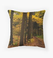 Autumn in the Spruces Throw Pillow
