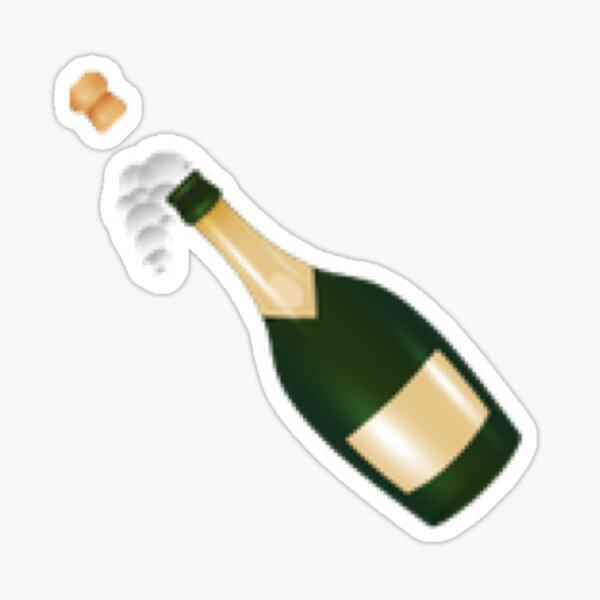 Pop the Champagne! New Emoji | Hipster/Tumblr/Trendy Meme Sticker