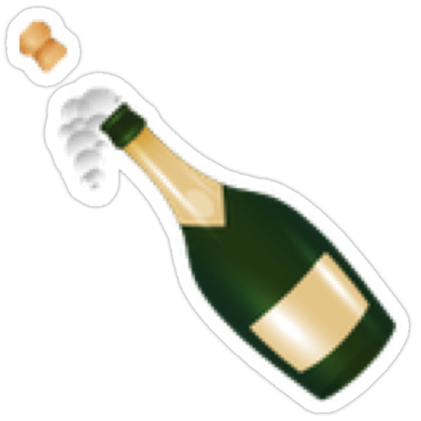Quot Pop The Champagne New Emoji Hipster Tumblr Trendy Meme
