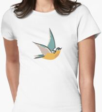 putting a bird on it Womens Fitted T-Shirt