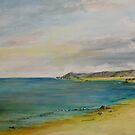 Quiet beach by Linda Ridpath