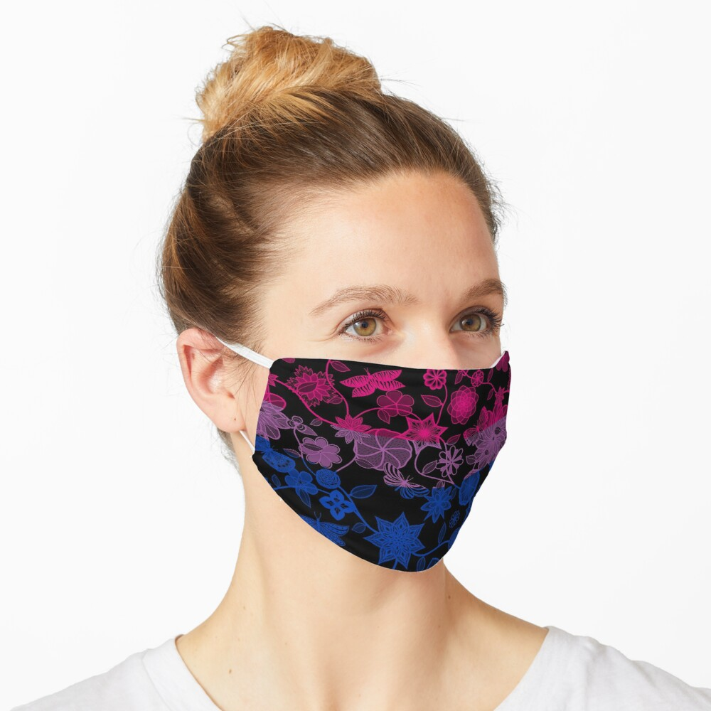 Butterfly Garden, Pride Flag Series - Bisexual Mask