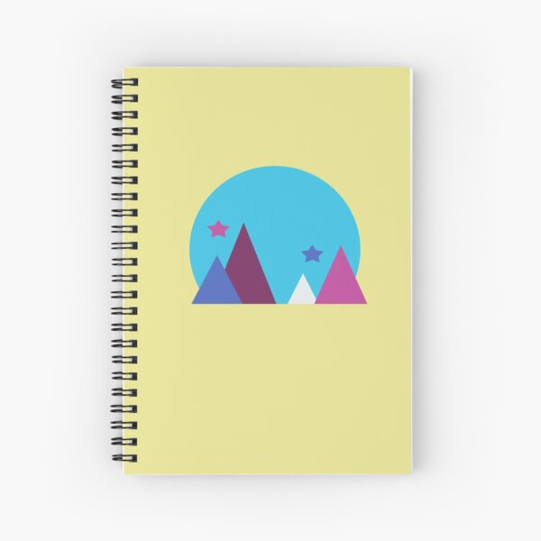Colorful Geometric Mountain Spiral Notebook