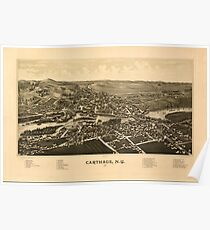Panoramic Maps Carthage NY 1888 Poster