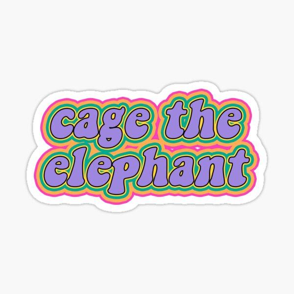 éléphant en cage Sticker
