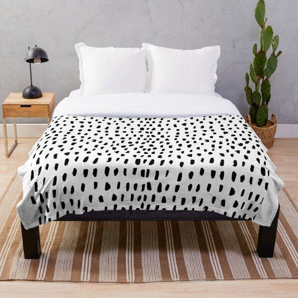 Black and White Dalmation  Throw Blanket