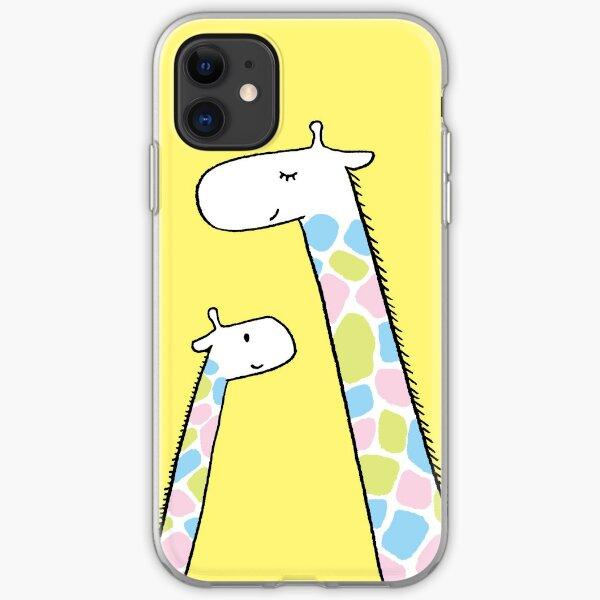 Giraffe family iPhone Soft Case
