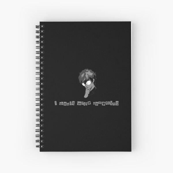 Persona 5 - I should write something Spiral Notebook
