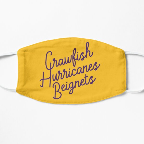 Crawfish, Hurricanes, Beignets Mask