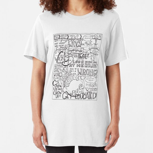 (Transparent) Wicked Witch of the East Bro Hand Lettered Slim Fit T-Shirt