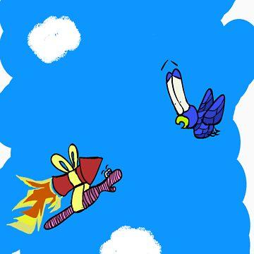 Rocket Worm by LesterBear