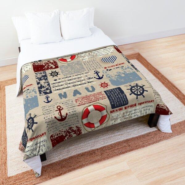 Nautical Antique Vintage Patchwork Pattern Comforter