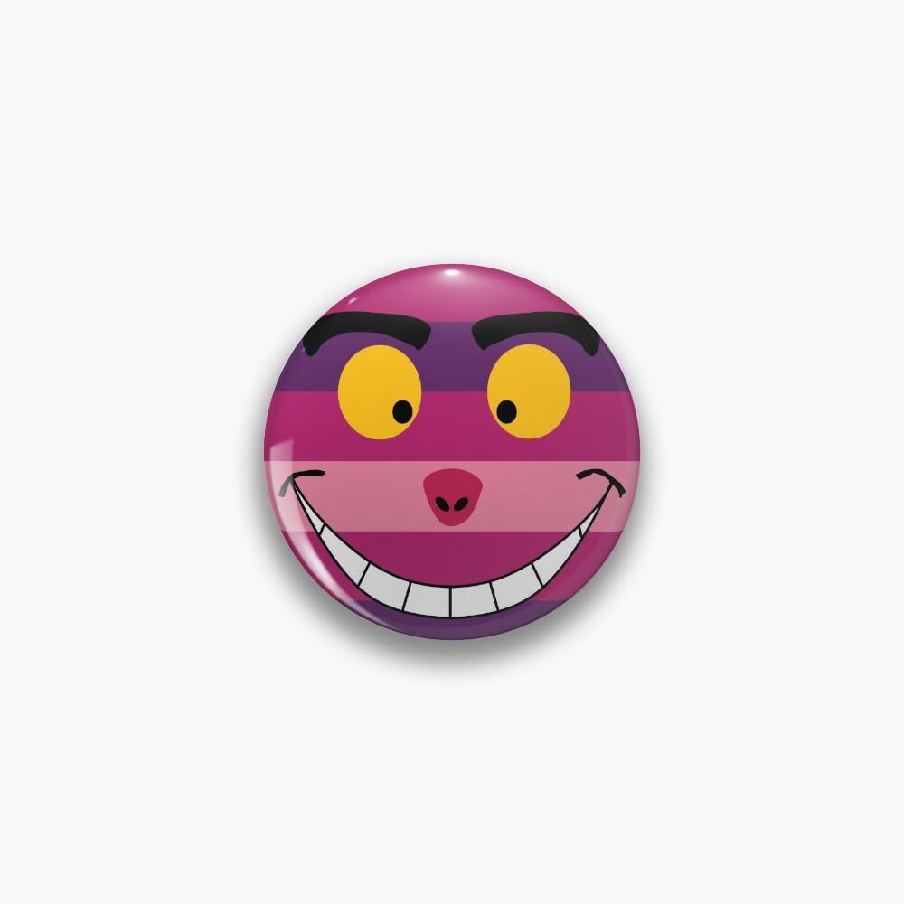 Cheshire Cat Funny Wonderland Colorful illustration Pin
