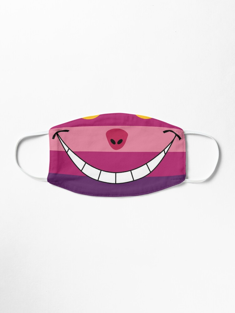 Alternate view of Cheshire Cat Funny Wonderland Colorful illustration Mask