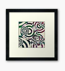 Glitch Ripples Framed Print