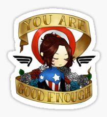 bucky says believe in yourself Sticker