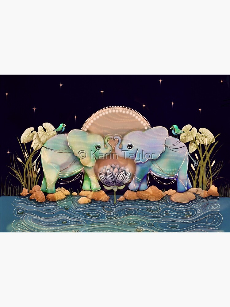 Lotus Flower Elephants of the Rainbow by karin