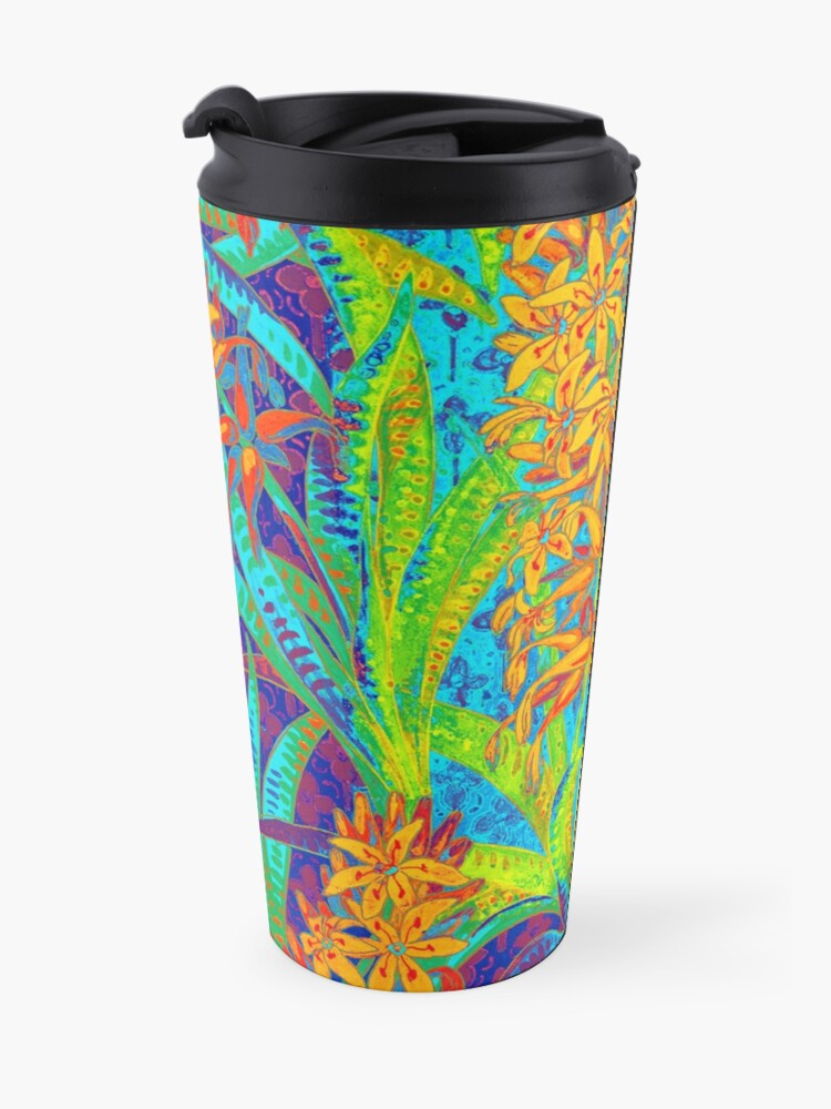 Alternate view of Floral Colorful Pattern Travel Mug