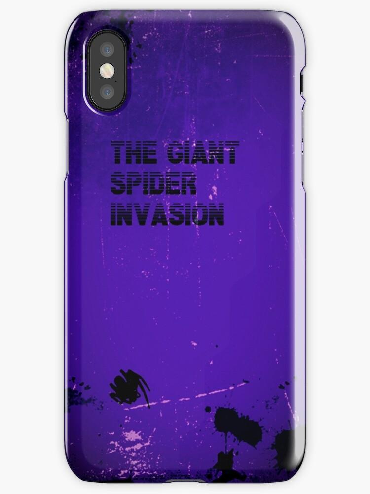 Giant Spider Invasion iphone case by Margaret Bryant