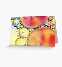 Candy Coloured Oil & Water Drops Greeting Card