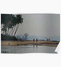Along the Beach North Goa Poster