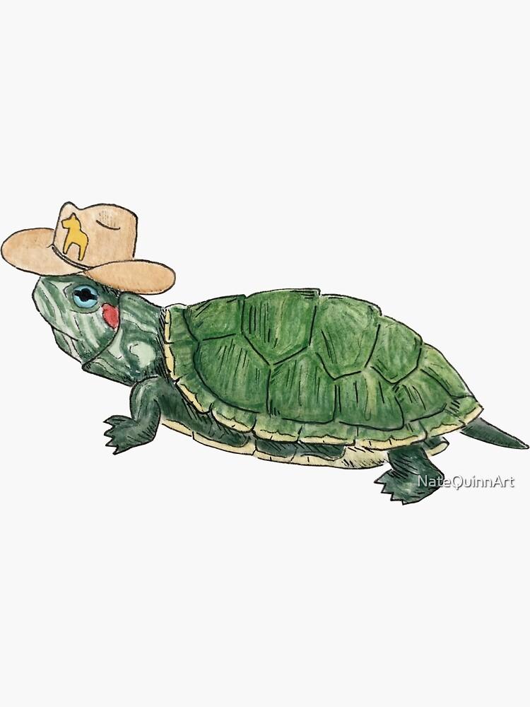 Cowboy Turtle by NateQuinnArt