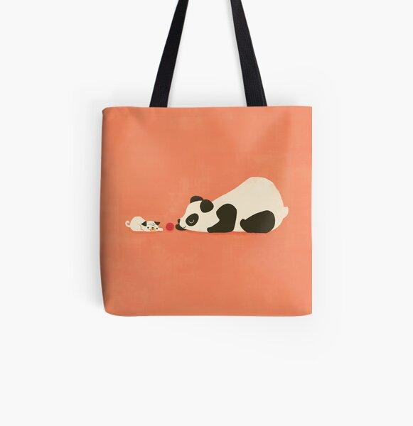 The Pug and the Panda All Over Print Tote Bag