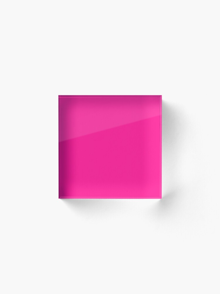 Alternate view of PLAIN SOLID DEEP PINK -100 PINK SHADES ON OZCUSHIONS ON ALL PRODUCTS  Acrylic Block