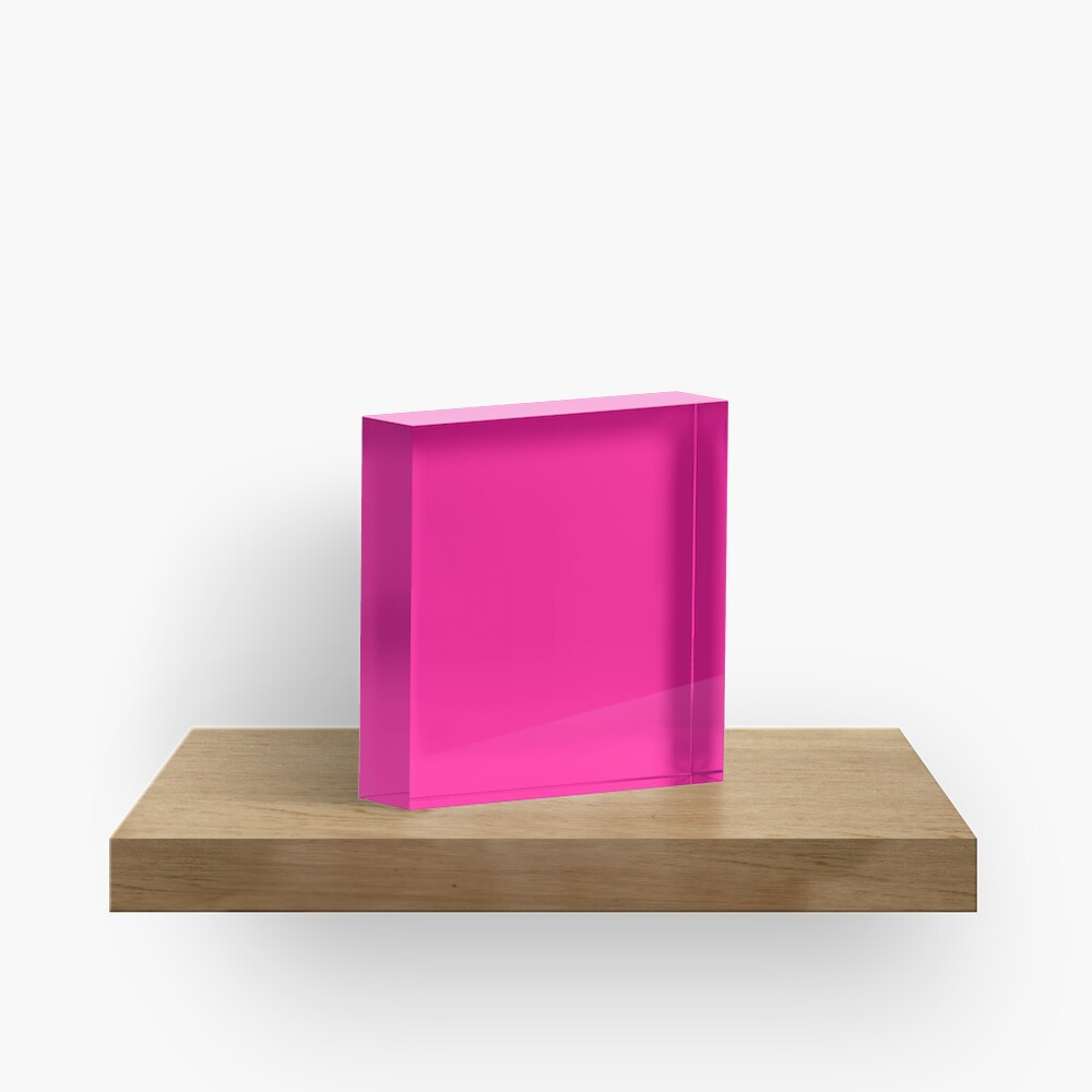 PLAIN SOLID DEEP PINK -100 PINK SHADES ON OZCUSHIONS ON ALL PRODUCTS  Acrylic Block