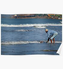 Cleaning Buckets in the Sea Arambol Poster