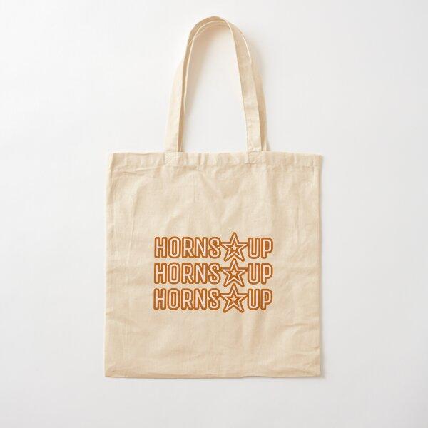 Horns Up - Dark Orange Cotton Tote Bag
