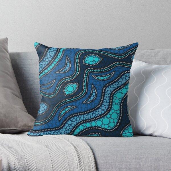 Dot Art Aboriginal Australian Inspired #3 Throw Pillow