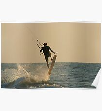 Kite Surfer Jumping Mandrem Poster