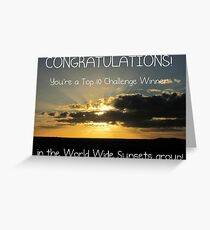 World Wide Sunsets Top 10 Banner Greeting Card