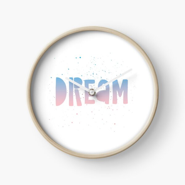 DREAM {blue and pink text} Clock