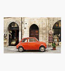 orange car in Gubbio Photographic Print