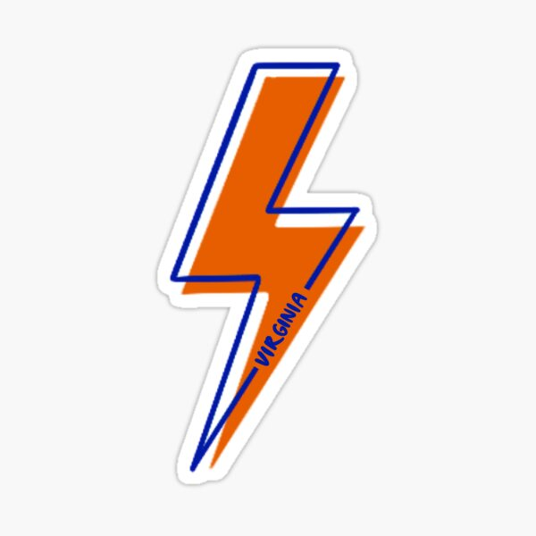 UVA Lightning Bolt Sticker