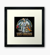 Worm of Grooviness Framed Print