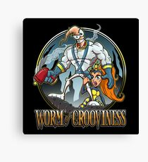 Worm of Grooviness Canvas Print