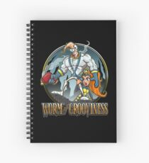 Worm of Grooviness Spiral Notebook