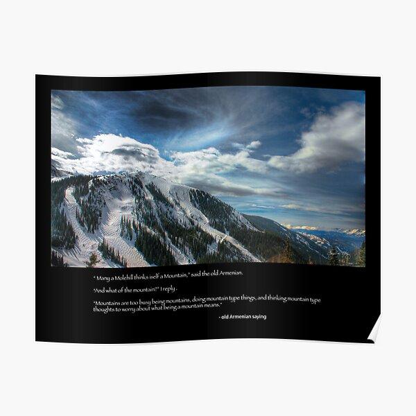 Molehills and Mountains - Condolence  Poster