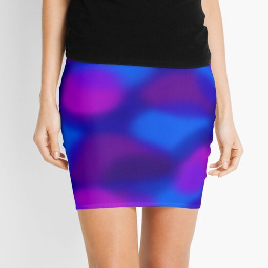 Colored Clouds Mini Skirt