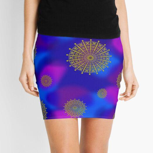Golden Sky Symbols Mini Skirt