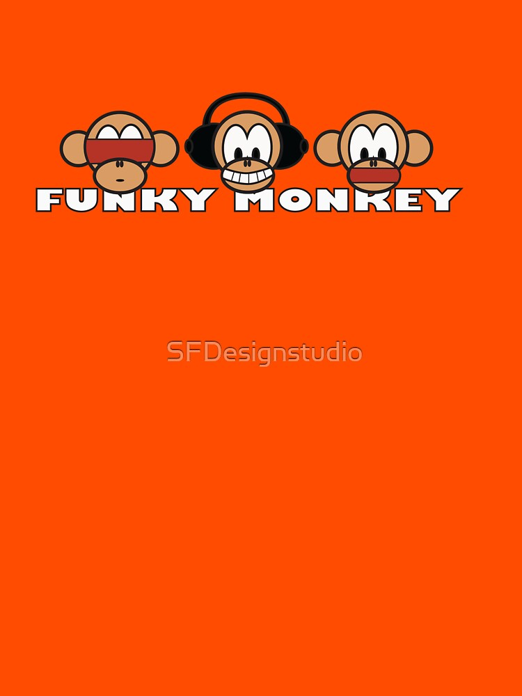 cartoon style three funky monkey | Unisex T-Shirt