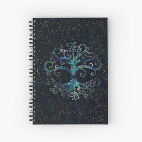 Árbol de la vida mármol y oro. Cuaderno de espiral